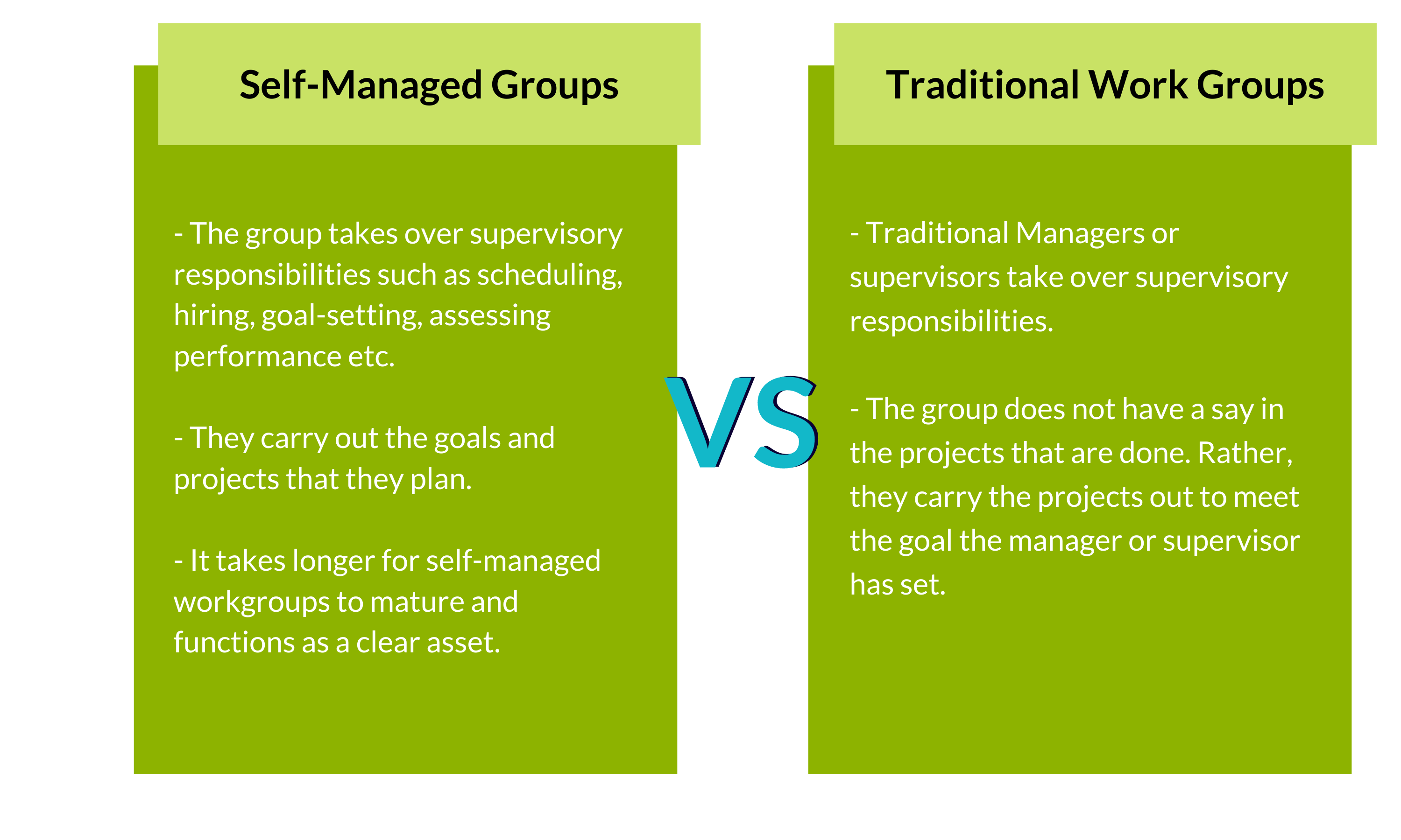 Self Managed Teams