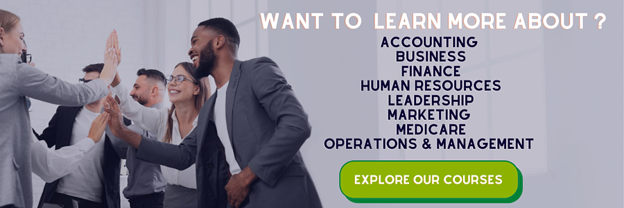 Want to learn more about accounting, business, finance, human resources, leadership